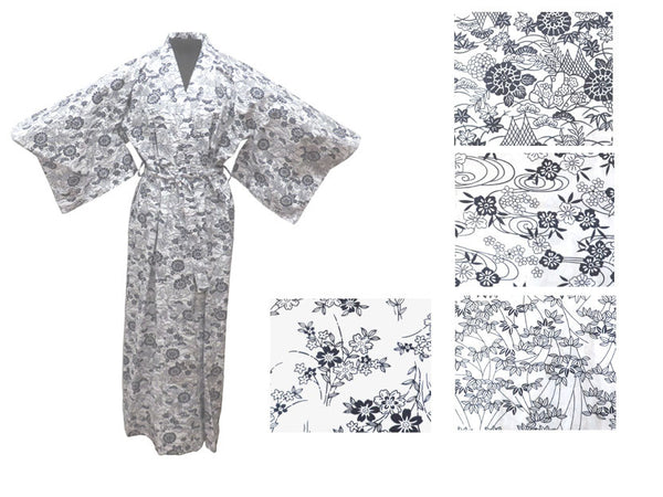 Cotton Floral Print Robe - Ankle Length