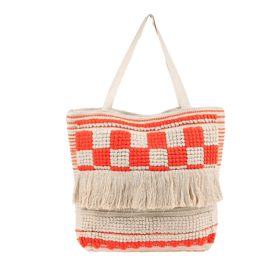 the Ibiza collection - neon orange boho bag