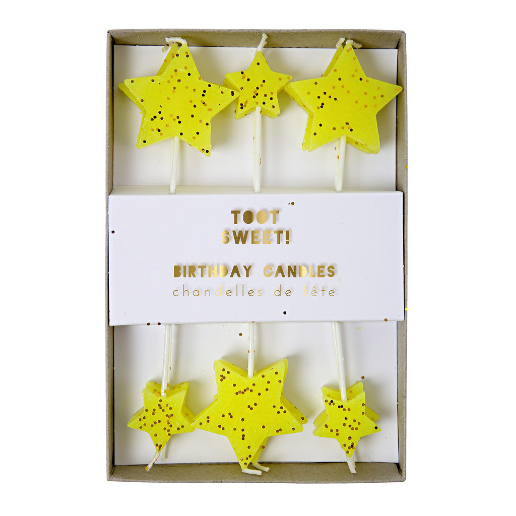 Yellow Star Cake Candles