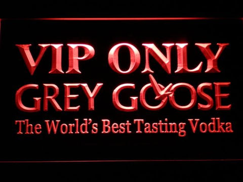 Grey Goose VIP Only LED Neon Sign 683 - Red