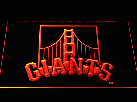San Francisco Giants Golden Gate Bridge MLB LED Neon Sign b1186 - Orange