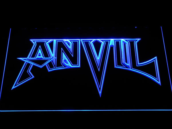 Anvil Heavy Metal Band LED Neon Sign c422 - Blue