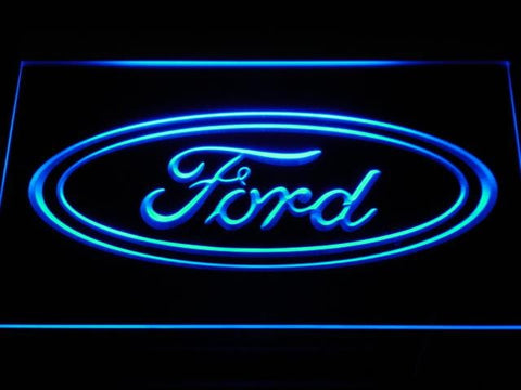 Ford Car LED Neon Sign d007 - Blue