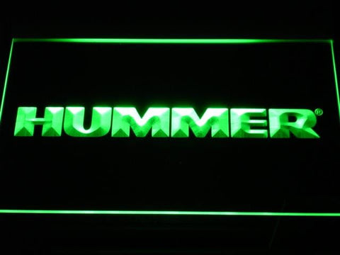 Hummer Trucks & SUVs LED Neon Sign d060 - Green