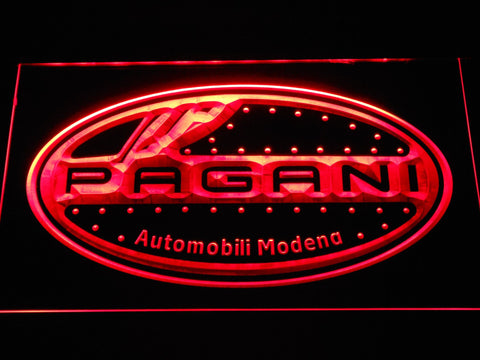 Pagani Motorcars LED Neon Sign d316 - Red