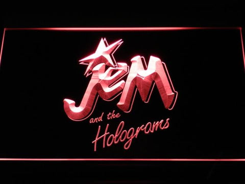 Jem And The Holograms Cartoon LED Neon Sign g132 - Red