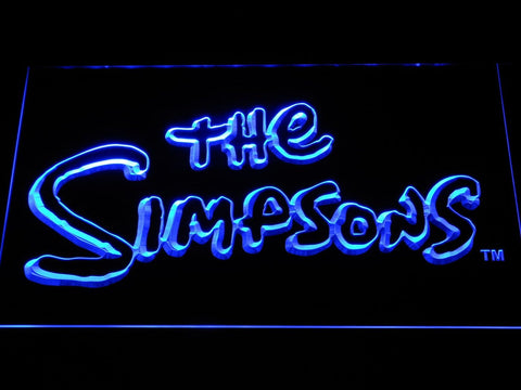 The Simpsons Cartoon LED Neon Sign g349 - Blue