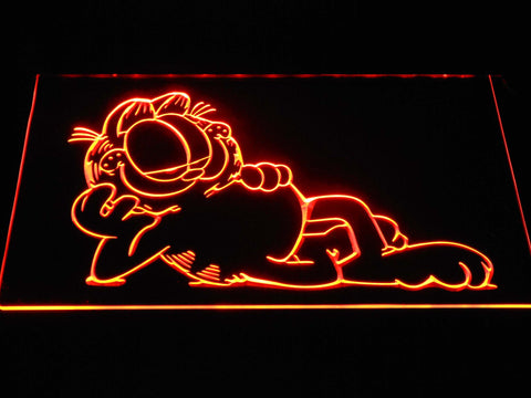 Garfield Lounge LED Neon Sign g378 - Orange
