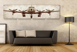 Propeller Plane, Aviation Artwork 4 Piece Canvas Set