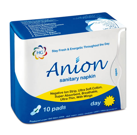 HG Anion Sanitary Napkin - Day