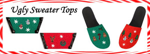 #uglySweaterDay get your #uglySweater interchangeable shoe tops 50% off with code SALE50