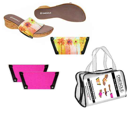 *** A Resort Travel  Shoe Kit Leisure Corky