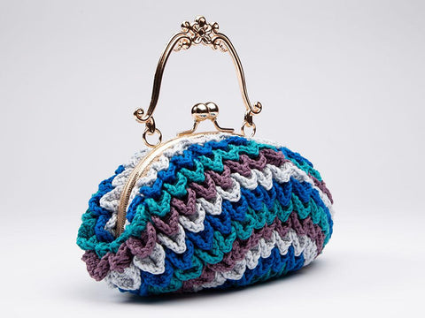 Jewelled Leaves Bag by Zoë Potrac in Rico Design Essentials Cotton DK