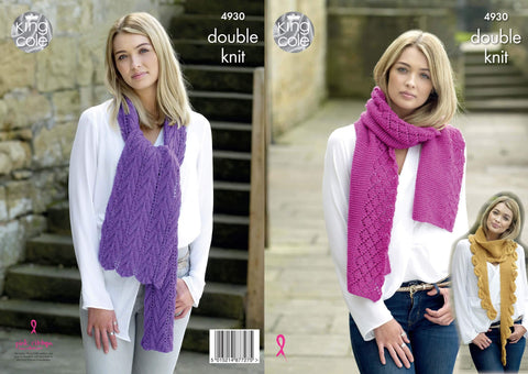 Scarves Knitted in Majestic DK (4930)