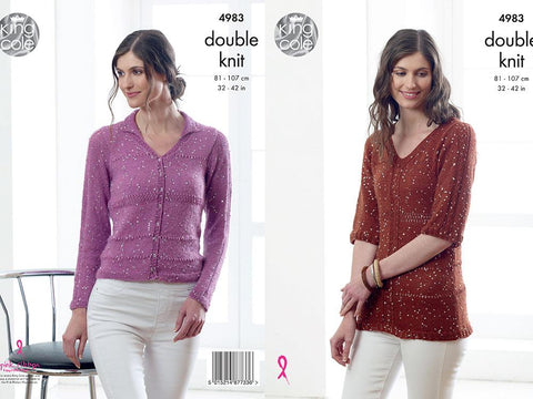 Sweater and Cardigan in King Cole Galaxy DK (4983)