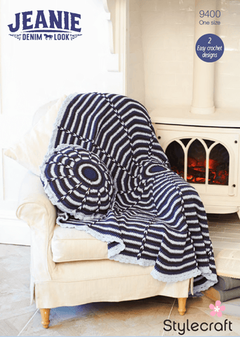Stylecraft Jeanie Throw Kit (9400) - Yarn and Pattern