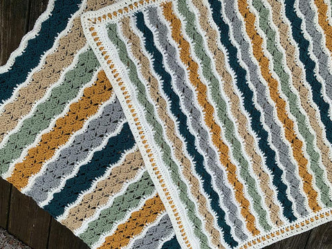 Ophelia Ripple Blanket Two Ways by Julie Yeager in Stylecraft Special Aran