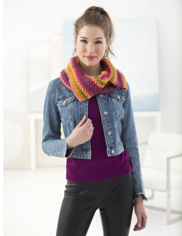 Woven Stitch Cowl in Lion Brand Landscapes (L70098)