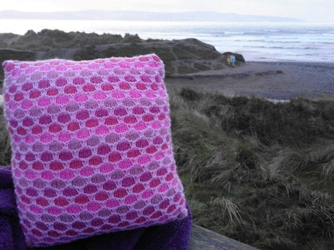 Textured Cushions by Sarah Murray in Stylecraft Special DK