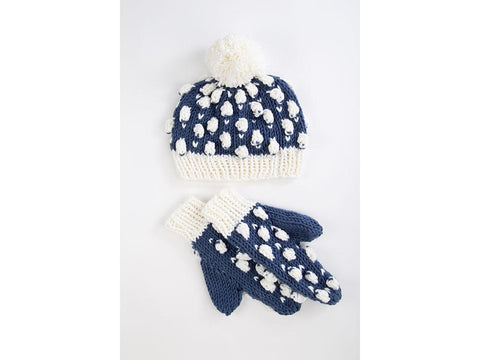 Sheep in the Snow Bobble Hat & Gloves by Ruth Dorrington in Deramores Studio Chunky