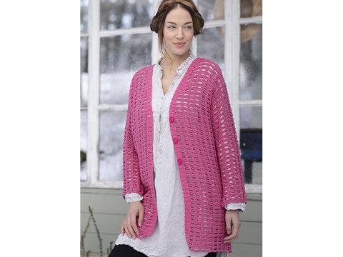 Women's Crochet Cardigan in Novita Wool Cotton