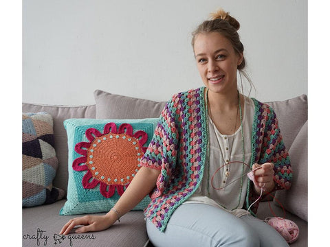Rabbithole Cardigan by New Leaf Designs in Scheepjes Secret Garden