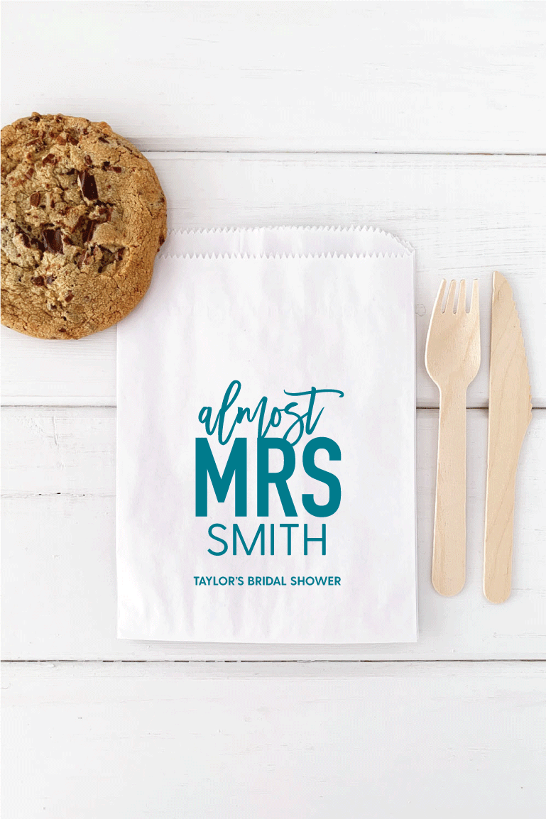 Almost Mrs Bridal Shower Favor Bags - Invited Too