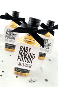 Baby Making Potion Mini Liquor Baby Shower Favors - Invited Too