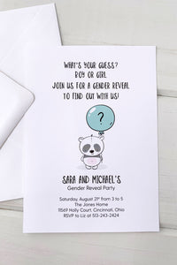 Baby Panda Gender Reveal Invitation - Invited Too