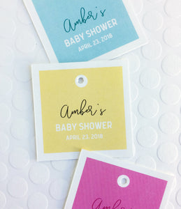 Baby Shower Favor Tags - Invited Too