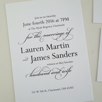Black and White Wedding Invitation Set - Invited Too