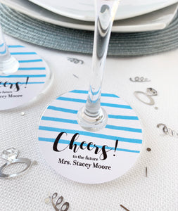 Cheers to the Future Mrs Wine Glass Favor Tags - Invited Too