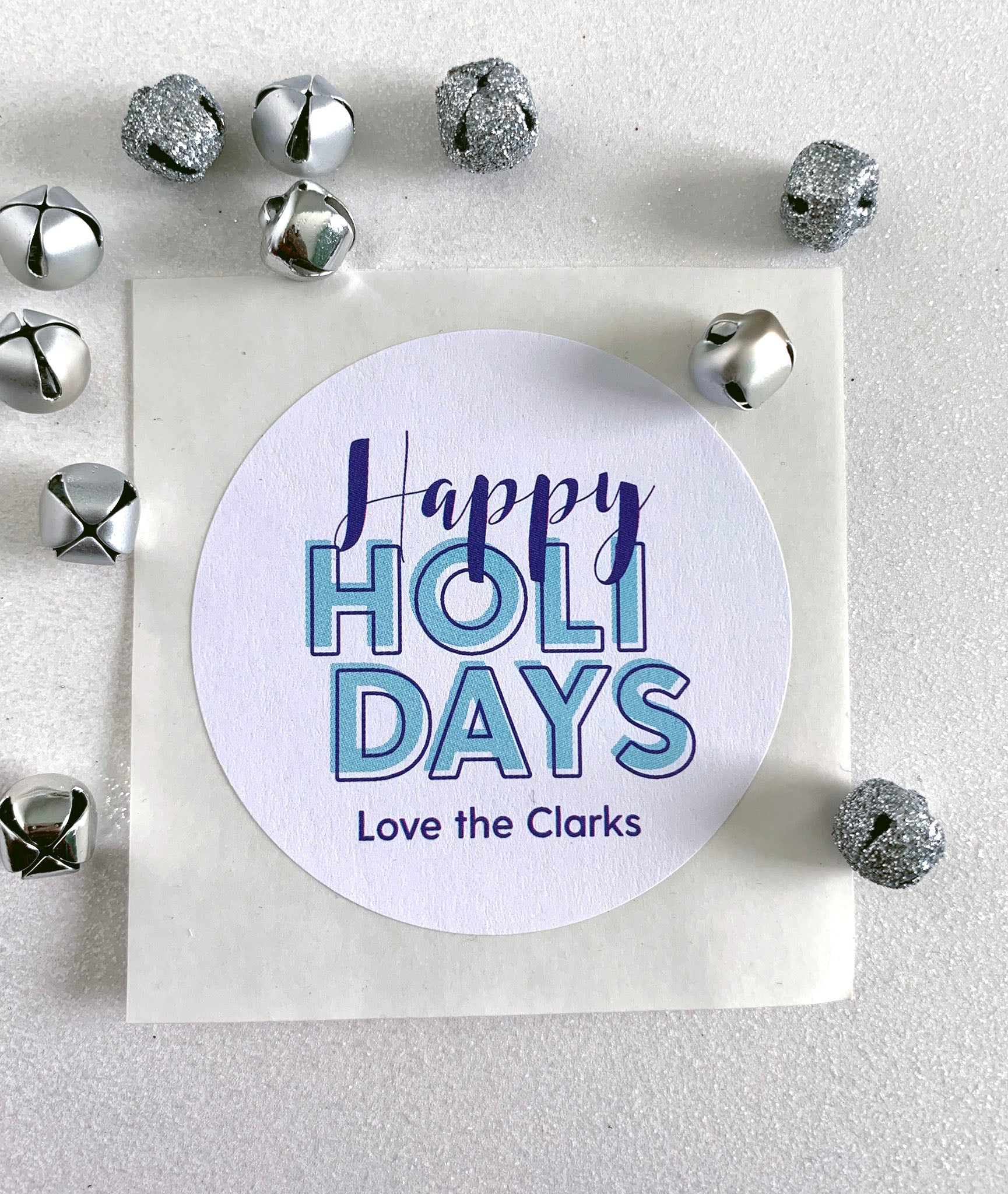 Happy Holiday Christmas Gift Sticker - Invited Too