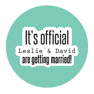 It's Official We're Getting Married Engagement Party Sticker - Invited Too