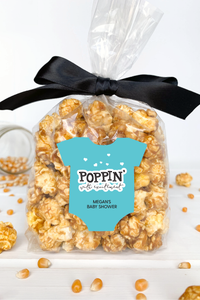 Baby Shower Popcorn Favor Labels - Invited Too