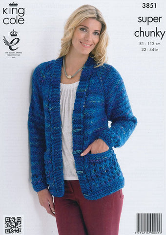 Tunic and Cardigan in King Cole Super Chunky (3851)