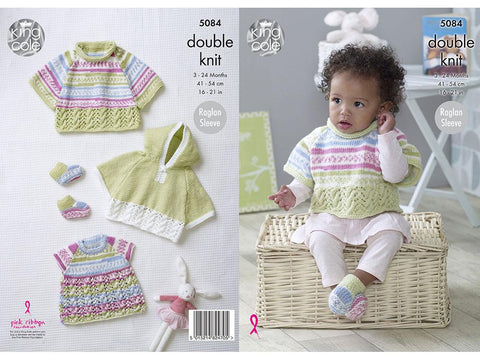Capes, Top & Bootees in King Cole DK
