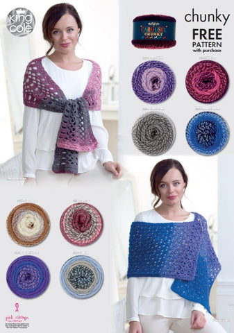 Knitted and Crocheted Scarves in King Cole Carousel Chunky