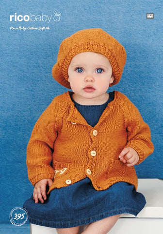 Jacket and Beret in Rico Baby Cotton Soft DK - 395