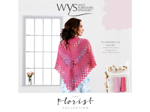 Florabelle Crochet Shawl in West Yorkshire Spinners Signature 4 Ply The Florist Collection