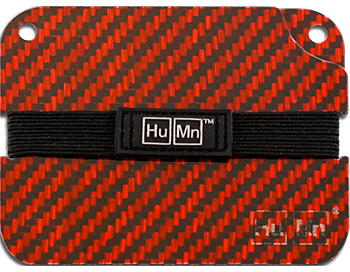 Red - Carbon Fiber HuMn Wallet 2 RFID Blocking