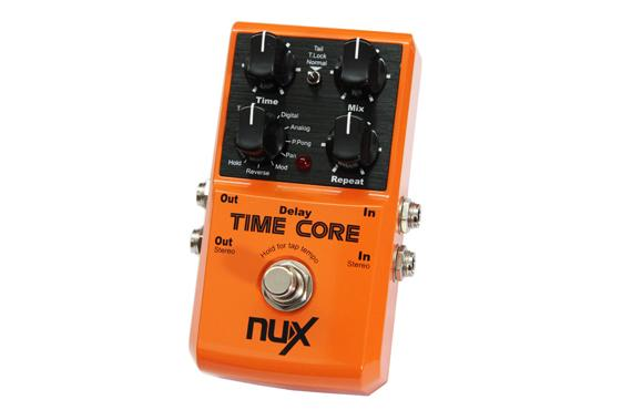 NuX Time Core Delay Pedal for Guitar and Bass-ThePedalGuy