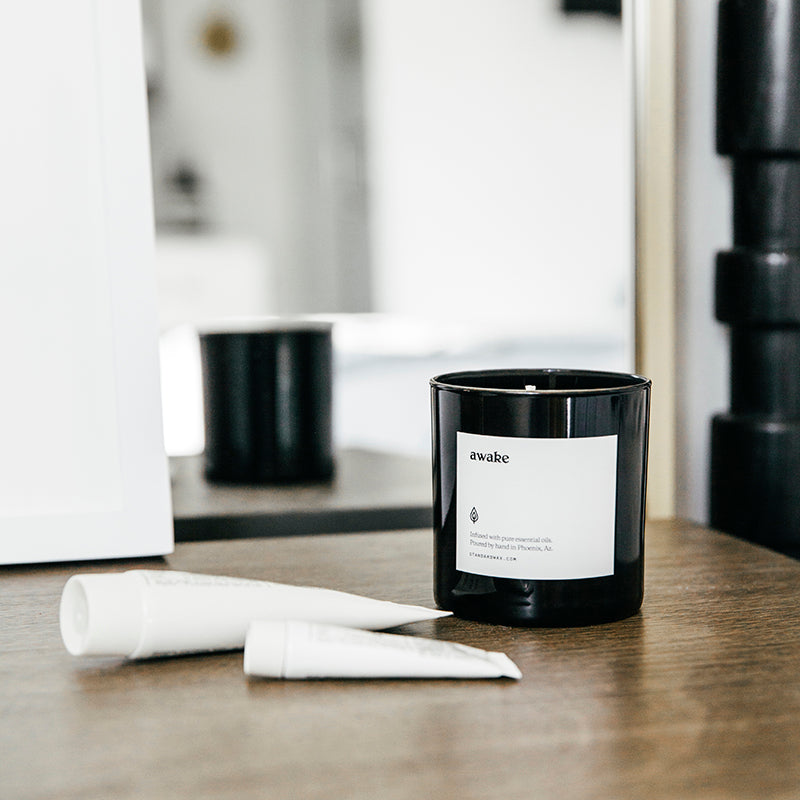 Awake Candle in the Mood Collection by Standard Wax