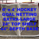 6' x 4' Replacement Ice Hockey Net, trimmed,  Fits 44