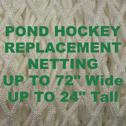 "6' x 4' Replacement Ice Hockey Net, trimmed,  Fits 44"" deep, 24"" top shelf"