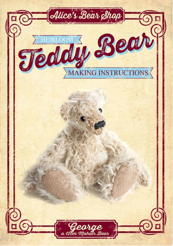 Teddy Bear Pattern and A5 Instruction Booklet - George Bear 12cm when made - Alice's Bear Shop