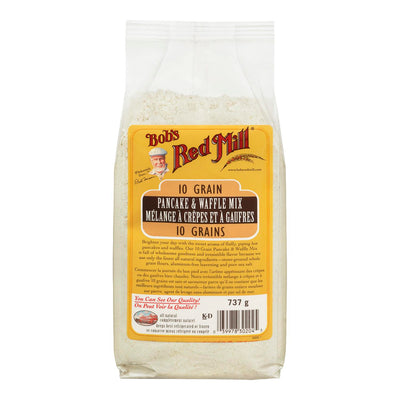 BOBS RED MILL MIX PANCAKE & WAFFLE 10 GRAIN 737 G