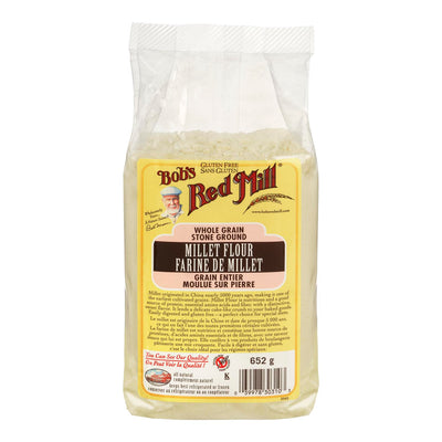 BOBS RED MILL MILLET FLOUR WHOLE GRAIN 652 G
