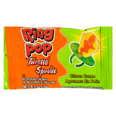 RING POP CANDY TWISTED CITRUS CRAZE 14 G
