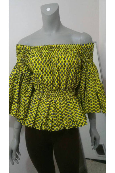 Ankara Off-Shoulder blouse